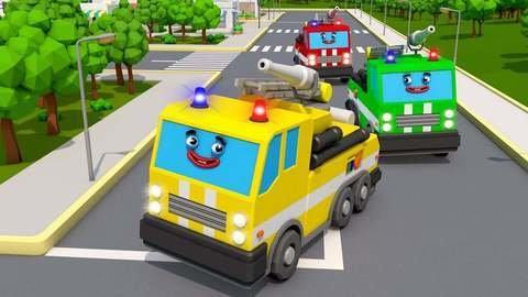 Apprends Les Couleurs Avec Le Camion Pompier En Regardant