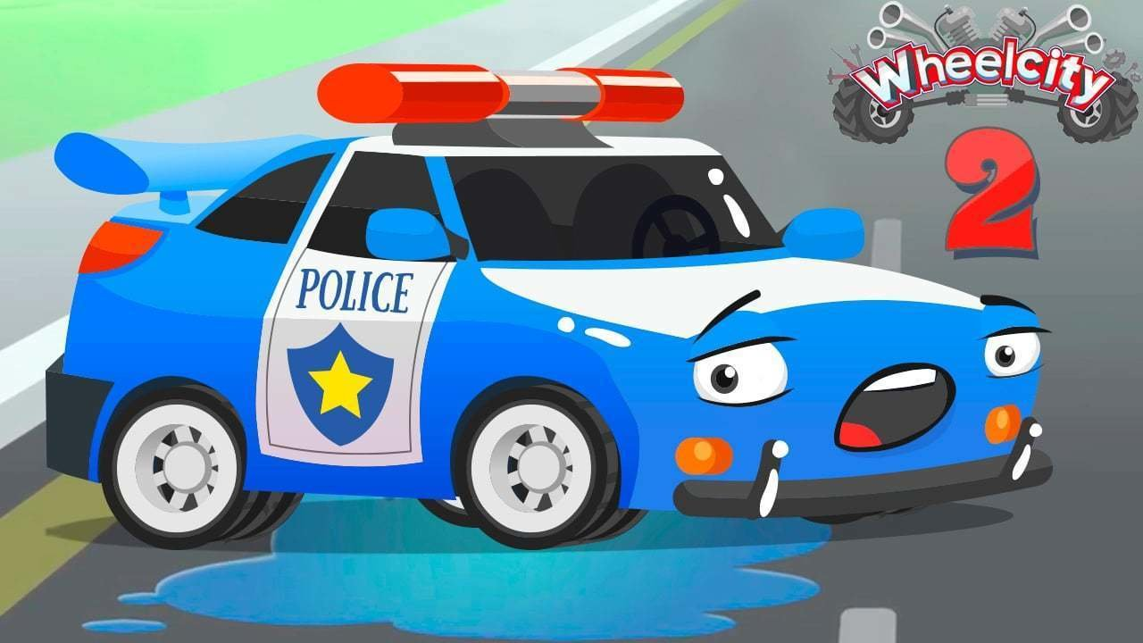 watch online free car cartoon for kids about flash the police car
