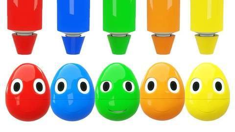 Learn Colors With Surprise Eggs In Educational 3D Cartoon For Kids