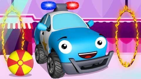 Dessin animé en streaming sur une voiture de police bien ...