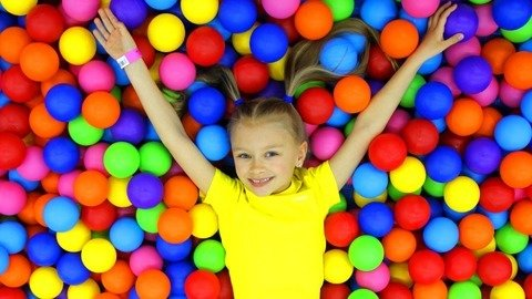 Playing In The Entertainment Area For Children With Yaroslava