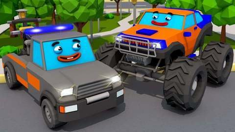 Online Car Cartoon For Kids About Car Accidents Due To The