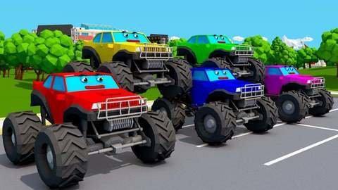 Apprendre Les Chiffres En Rythme Avec Le Monster Truck Rouge Et