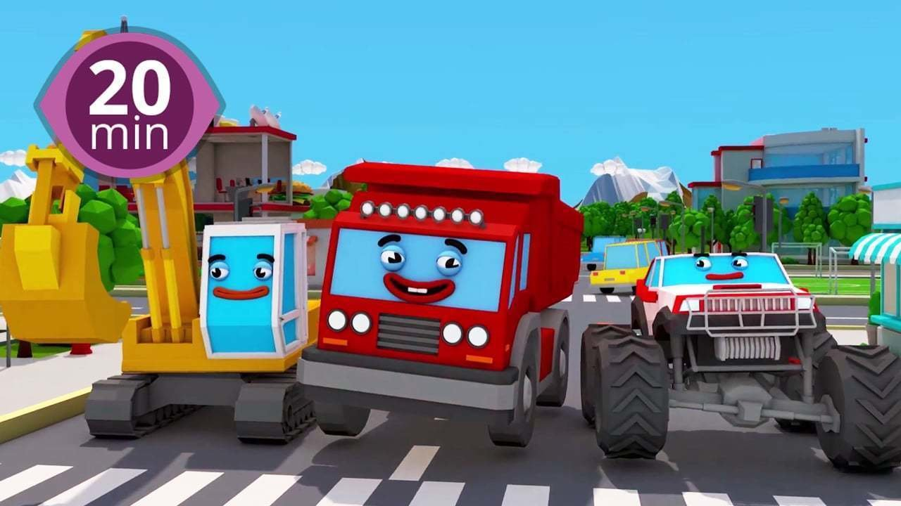 watch non stop 20 minute 3d car cartoon for kids online free