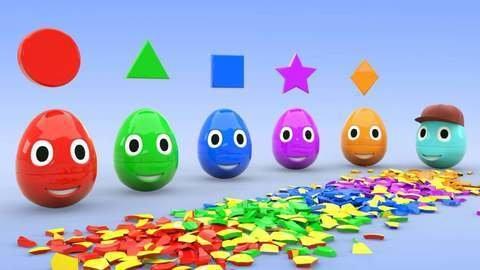 Aprende Colores Números Y Figuras Geométricas En Inglés Con Huevos Sorpresa En Vídeo Educativo