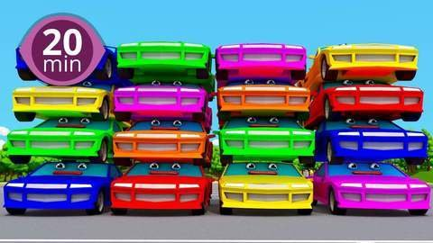 3D Car Cartoon: Learning Colors for Kids with Popular Kids Songs like  Family Finger